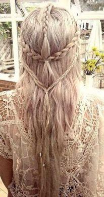 Tinte cabello largo rubio