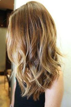 Tinte cabello largo castaño reflejos oro