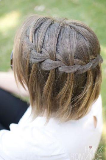Peinados pelo corto trenzas cascada