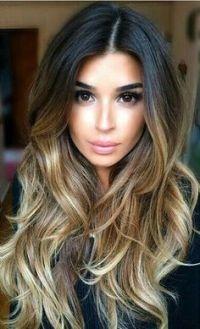 Tinte cabello largo castaño reflejos claros