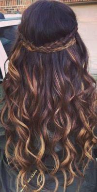 Tinte cabello largo tono castaño bronce