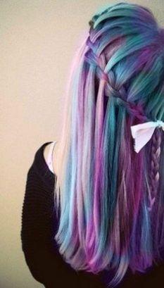 Tinte cabello largo tres tonos