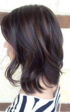Tinte cabello media melena moreno castaño