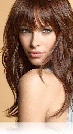 Tinte cabello largo tono caoba chocolate