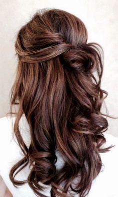 Tinte cabello largo tono castaño caoba
