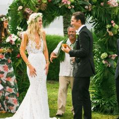 05 Fotos de boda en ritual de jardin