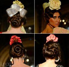 20 Peinados con tocado de flores actuales para ir a la feria de Cordoba