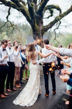 23 Fotos de boda pasillo de bengalas