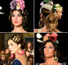 23 Tendencias Peinados con tocado de flores para ir a la feria de Cordoba