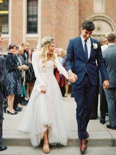24 Fotos de boda saliendo de la iglesia