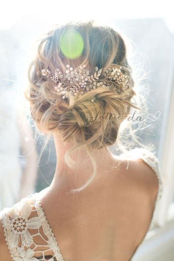 fotos de peinados de novia mechones semirecogidos en córdoba