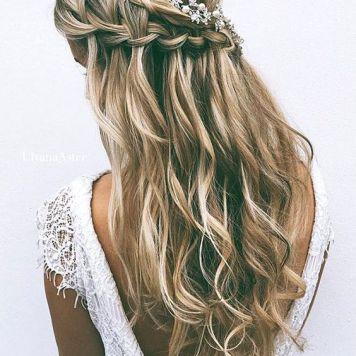 peinados de novia trenza a un lado en córdoba