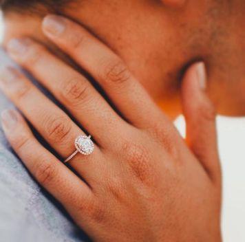 Tipo 16 Anillo de Compromiso para novia