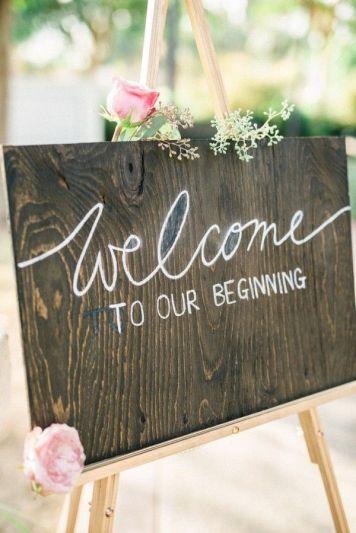 carteles bienvenida de boda al aire libre