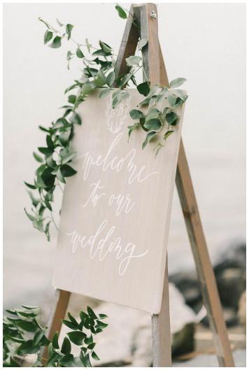 carteles de boda al aire libre