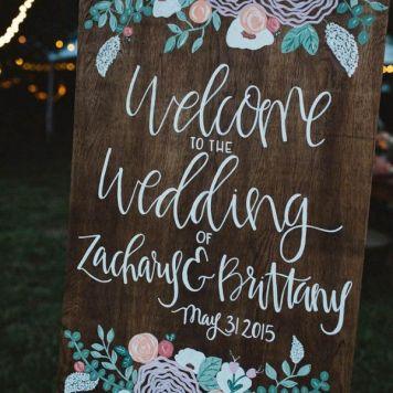 carteles divertidos de boda al aire libre