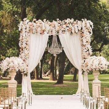 decorar jardin para boda civil