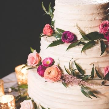 Idea 7 tarta de boda natural de rosas