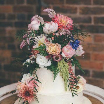 Idea 8 tarta de boda centro de flores