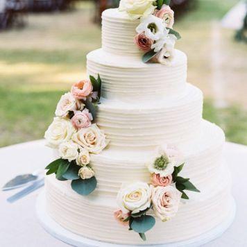 Idea 9 tarta de boda decoración rosas
