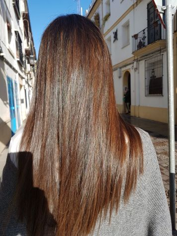 Mechas instant highlights Cobrizo