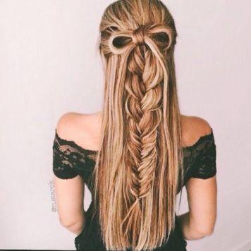 Semirecogido Media altura con lazo del propio pelo
