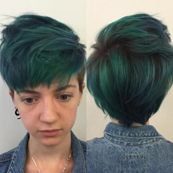 Colores de pelo de moda Cortos