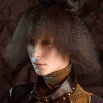 Corte de pelo y peinado campana doble textura