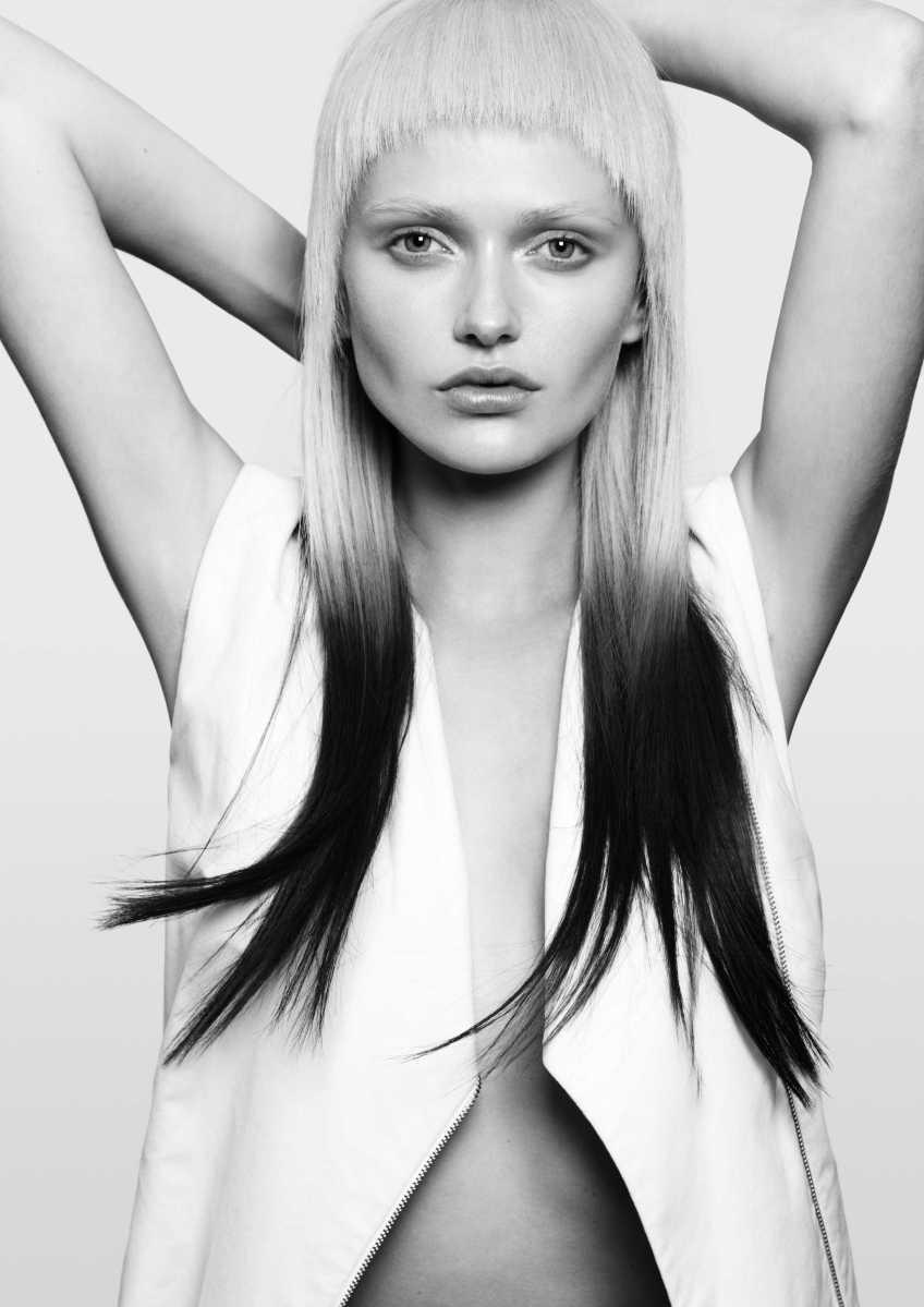 Corte de pelo y peinado mechas californianas invertidas