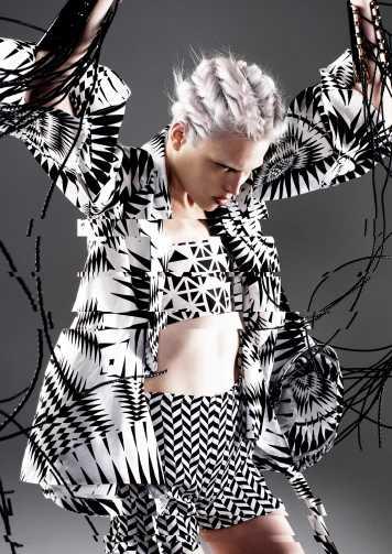 Corte de pelo y peinado trenzas blanco plata