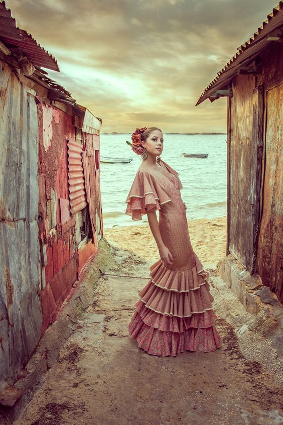 Recogidos flamenca para Pelo Corto Patios de Cordoba