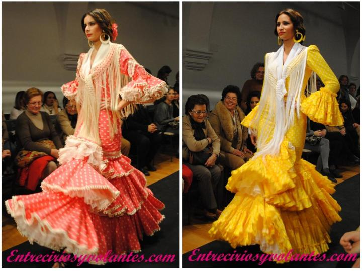 Feria y Fiestas Barriada de los Angeles Alcolea Flamenca Amarillo y Naranja