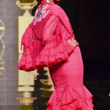 Feria y Fiestas Barriada de los Angeles Alcolea Flamenca Fucsia Plumeti