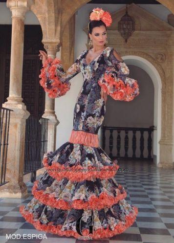 Feria y Fiestas Barriada de los Angeles Alcolea Flamenca Naranjas y Grises