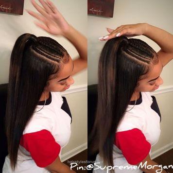 Peinados de trenzas de lado y cabello suelto Palma del Rio
