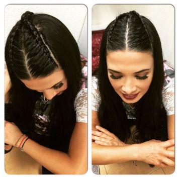 Peinados de trenzas de lado y cabello suelto Villafranca de Cordoba