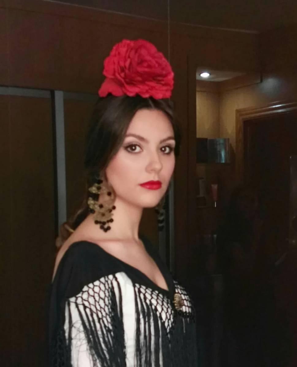 Peluqueria y Maquillaje Flamenca para Peinados 2018 Cañero Esther