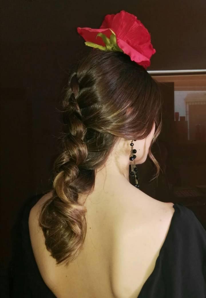 Peluqueria y Maquillaje Flamenca para Peinados 2018 Catedral Esther