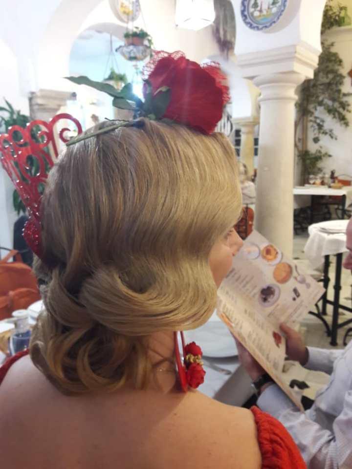 Peluqueria y Maquillaje Flamenca para Peinados 2018 Gema Gutierrez La Carrucha Moda