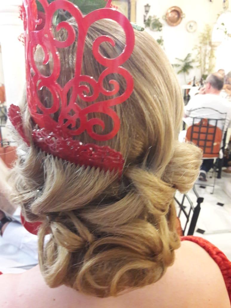 Peluqueria y Maquillaje Flamenca para Peinados 2018 Gema Gutierrez La Peineta