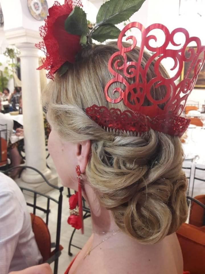 Peluqueria y Maquillaje Flamenca para Peinados 2018 Gema Gutierrez Pedroche Gitana