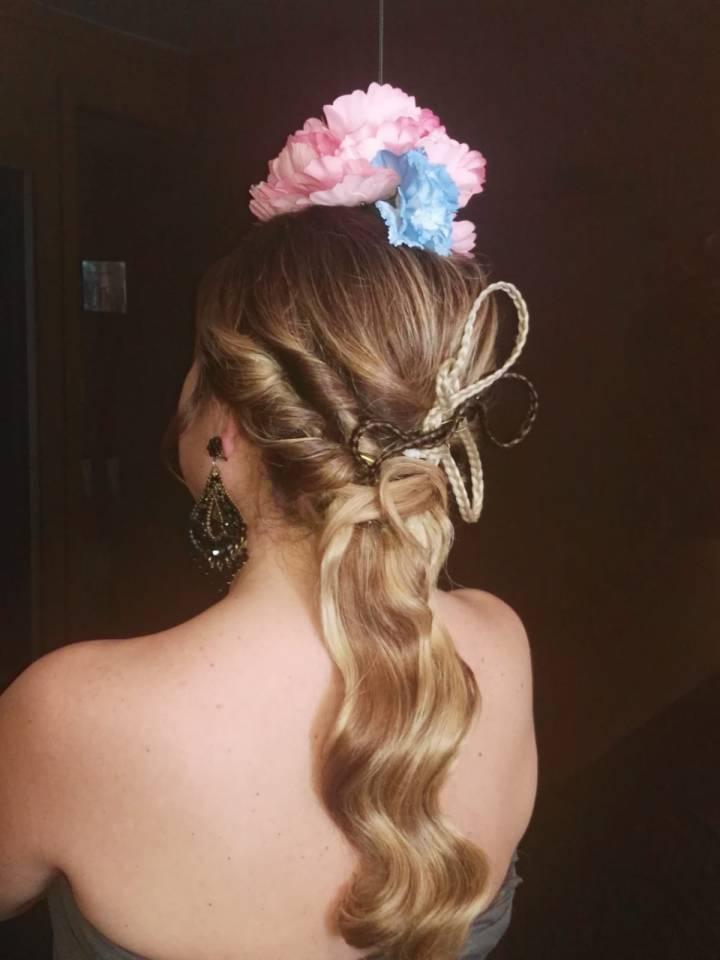 Peluqueria y Maquillaje Flamenca para Peinados 2018 Gema Montilla Fatima
