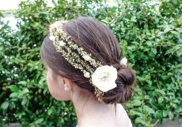 Adornos para peinados de niña Primera Comunion Corona Natural