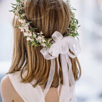 Adornos para peinados de niña Primera Comunion Corona y Lazo