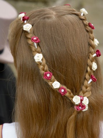 Adornos para peinados de niña Primera Comunion Guirnalda