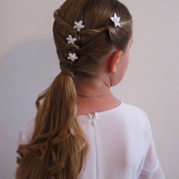 Adornos para peinados de niña Primera Comunion Motivos sencillos
