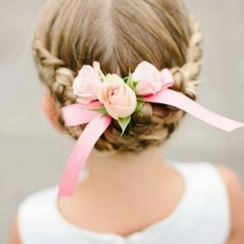Adornos para peinados de niña Primera Comunion Pelo Recogido