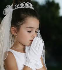 Adornos para peinados de niña Primera Comunion Recogido alto con Tiara