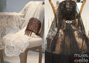 Fotos de como se lleva la Mantilla de Madrina Montoro