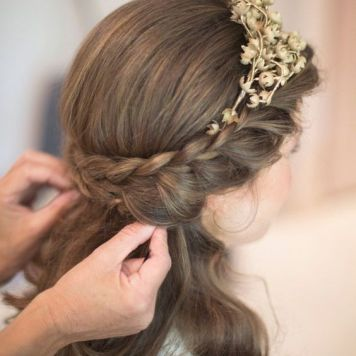 Peinados con encanto para niñas de Comunion La Fuensanta